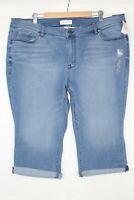 Lane Bryant Women's Signature Fit Pedal Jean Plus Size 24 Medium Wash