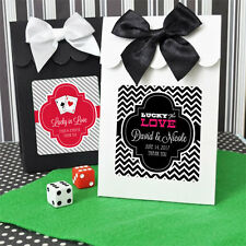 96 Personalized Las Vegas Wedding Candy Boxes Bags Favors