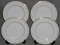 Set (4) NORITAKE White Scapes LOCKLEIGH PATTERN Salad Plates