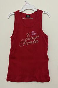 Victoria's Secret Sexy Little Things Red Bling I Kissed Santa Shirt Large