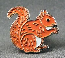Metal Enamel Pin Badge Brooch Squirrel Squirel Squirell Squirrell Red