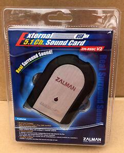 Zalman External USB 5.1 Channel Sound Card ZM-RSSC V2 NEW SEALED