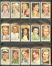 1939 GALLAHER MY FAVORITE PART COMPLETE 48 CARD COLOURED SET NICE CONDITION