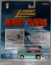 JOHNNY LIGHTNING SURF RODS WAIMEA MAMAS panel van surf long board photo babe