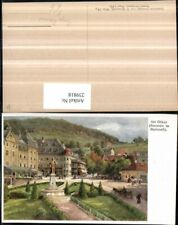 239818,Künstler AK Hugo Darnaut Mariazell Abt Otker Brunnen