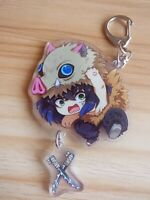 Cute Hashibira Inosuke Keychain Pendants Demon Slayer Kimetsu no Yaiba Key Chain