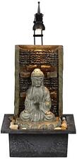 "Namaste Zen Buddha 11 1/2"" Indoor Lighted Tabletop Fountain Relaxing Waterfall"