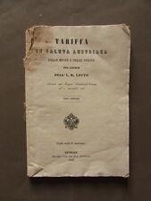Tariffario Valuta Austriaca Messe Vincite Gioco Lotto Venezia 1863