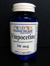 Vinpocetine 30 mg 200 Capsules Maximum Strength Memory, Brain Health