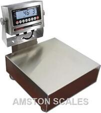 60 X 0002 Lb Digital Bench Scale 10x10 Washdown Waterproof Seafood High Quality