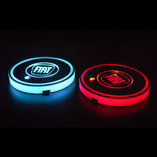 2x Car LED Cup Holder Lights Fiat USB Colour Changing Interior Light Accessories