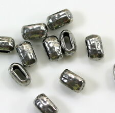 TierraCast Hammertone Large Barrel Crimp Beads, Pewter, 20 Pcs  Bargain Buy