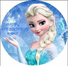 Frozen Elsa Personalised Edible Cake Decoration Topper Image