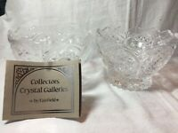 2 Vintage Imperlux 24% Lead Crystal Bowl Sunrise Collection Western Germany