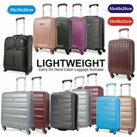 Lightweight Carry On Hand Cabin Luggage Suitcase 55x35x20 55x40x20 55x40x23 cm