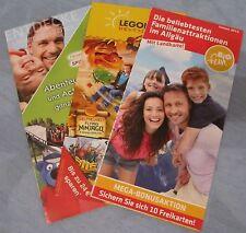 5 Stück Info Freizeitparks Allgäu Legoland, Ravensburger Spieleland + Familie...