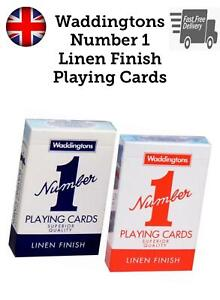 Waddingtons No.1 Classic Playing Cards Decks Red Blue Poker Game Family Fun New
