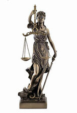 Lady Justice Statue Goddess of Justice Themis Desktop Bronze Finish  #WU71832A4
