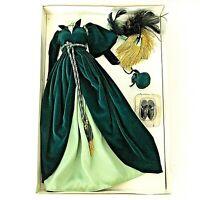 Scarlett Gone With The Wind Doll Dress Green Drapery Franklin Mint Wardrobe