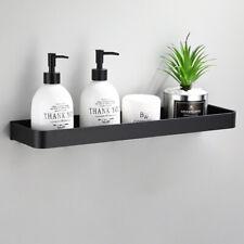 Newest Bathroom Sponge Soap Cloth Black Rack Storage Organizer Holder Aluminum