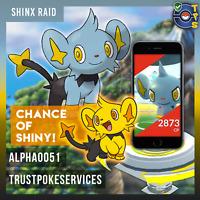 Pokemon GO GUARANTEED CAPTURE from Raids Shinx Lot of 10 - Chance of Shiny