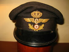 ANTIQUE DANISH DENMARK RAILWAY HAT CAP KEPI KAPPE CASQUETTE GORRA 1950s RARE