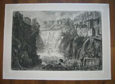 Giovanni Battista Piranesi: Wasserfall in Tivoli 1765/Waterfall Print Radierung