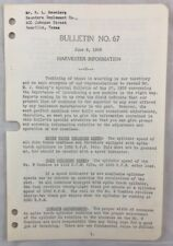 1939 Antique John Deere Bulletin / Jd Harvester Information