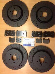 Front Rear Black Discs Pads Compatible With Impreza Sti 2005-2007 Ra R Hawkeye
