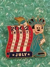 DIsney Store 12 Months of Magic Calendar July / Statue of Liberty Minnie pin