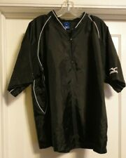 Mizuno Quarter Zip Up Short Sleeve Baseball Warm Up Pullover Throwing Jacket M