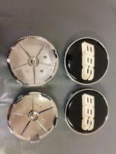 4PCS Silver Logo Black Wheel Center Hub Caps Badge For BBS Face 68mm Clip 65mm