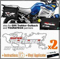 2x Adesivi Bianco Rosso compatibile con Yamaha XT 1200 Super Tenere Z R X