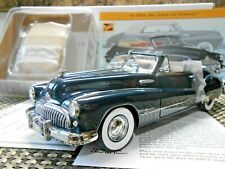Danbury Mint 1:24 1948 Buick Roadmaster Convertible Regency Blue W/ Papers!