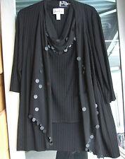 "Joseph Ribkoff 10 BNWT Srunning Black Jacket Wrap Top Cardi Sheer ""Scarf"" +Discs"