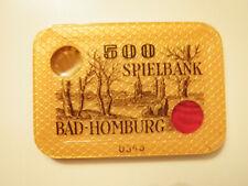 Casino Spielbank Plaque Jeton Chip Bad Homburg 500DM