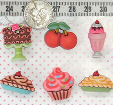 Novelty Buttons Cherry Dessert Cupcake Sewing Quilting Scrapbooking Craft  #83