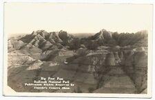 Big Foot Pass, Badlands National Park, South Dakota RPPC Postcard