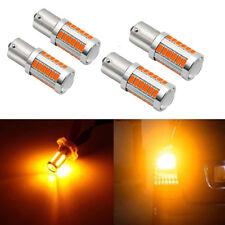 4x 1156 BA15S P21W Amber 6000K LED Turn Signal Reverse Light Bulb High Power