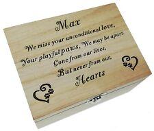 Memorial Box Dog Cat Mini Keepsake Remembrance Urn Peaceful Pet Cremation Ashes