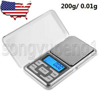 0.01g x 200g Gram LCD Digital Pocket Scale LS-100 LIGHTER Mini Precision Scale