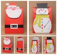 Xmas Gift Bags - Medium Christmas Santa or Snowman Velcro Topped Quality Bag