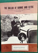 Sheet Music; The Ballad of Bonnie and Clyde 1967