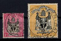 P133381/ BRITISH CENTRAL AFRICA – SG # 25 – 27 USED – CV 125 $