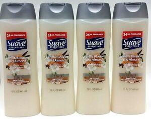 ( 4 ) SUAVE 2 in 1 Shampoo & Conditioner Vanilla Blossom & Almond Oil 15 Oz Each