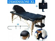 Table de massage 3 zones noir + Porte Rouleau Cosmetique lit esthetique pliante
