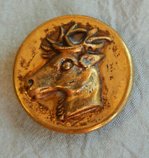 """Antique Button Deer Buck Stag  ~Apx:7/8""""~#1528-A"""