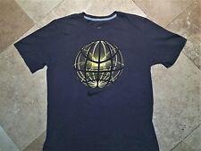 Nike Regular Fit Short Sleeve Graphic Tee Shirt Cotton Gray L