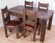 NEW ORIGINAL RUSTIC FARM 150CM DINING TABLE WITHOUT CHAIRS MANGO WOOD FURNITURE