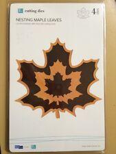 Quickutz Nesting Maple Leaves* New* 4 Dies